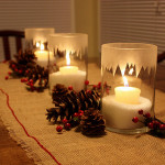 Snowdrift Candles {How to Etch Candleholders}