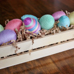 Colourful Twine Wrapped Easter Eggs