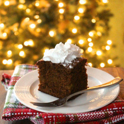 Gingerbread Cake with Gay Lea Coconut Whipped Cream