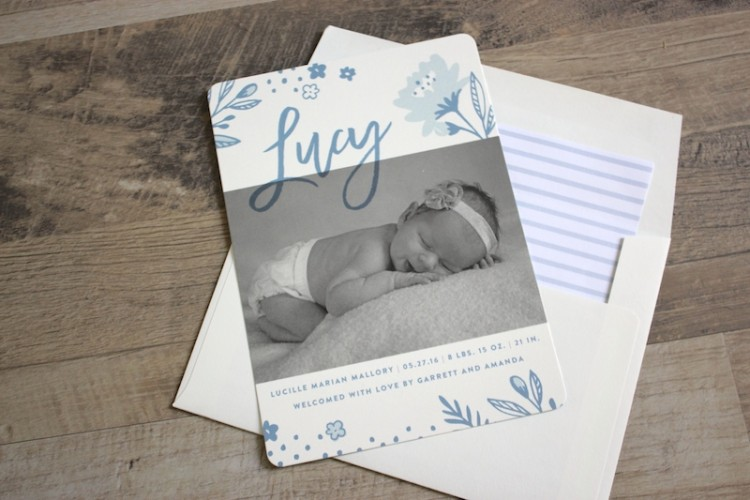 Sending out Good Mail – Lucy's Birth Announcements
