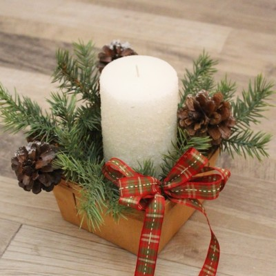 Festive Frosted Candles