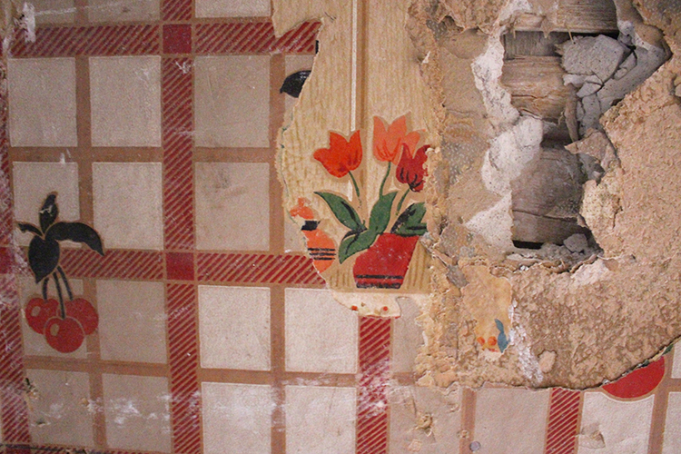 Revealing Our Home's History – Powder Room Update
